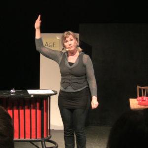 Lena Frisk som presentatör